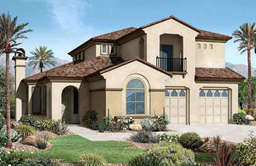 These Toll Brothers built homes are in the Palo Verde collection in Aviano at Desert Ridge.