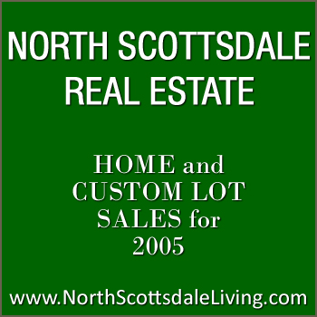 Home and custom lot sales in North Scottsdale for 2005.