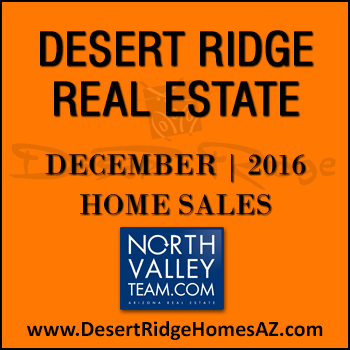 There were 40 December 2016 sold Desert Ridge homes which included 10 Desert Ridge condos.