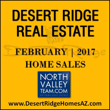 There were 41 February 2017 sold Desert Ridge homes which included 12 Desert Ridge condos.