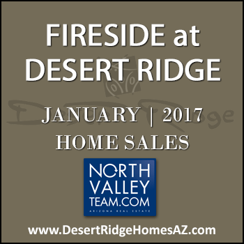 There were four January 2017 sold Fireside Desert Ridge homes and no sold homes this month were Fireside Triplex condominiums.