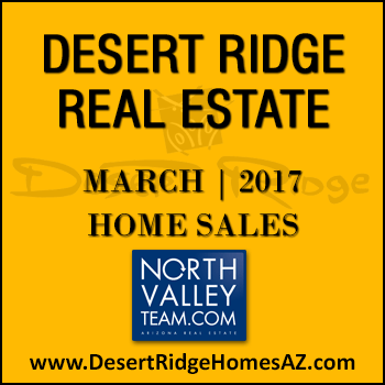 There were 44 March 2017 sold Desert Ridge homes with 13 of those homes being Desert Ridge condominiums.