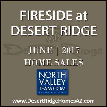 There were only two June 2017 sold Fireside Desert Ridge homes with one of those properties being a Fireside Triplex condominium in Desert Ridge.