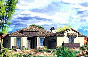 This is the Cassia collection of Aviano Desert Ridge floor plans by Toll Brothers.