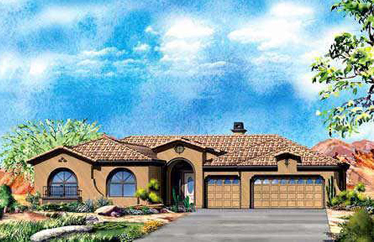 These are the Cottonwood collection of homes in Aviano at Desert Ridge by Toll Brothers Homes.