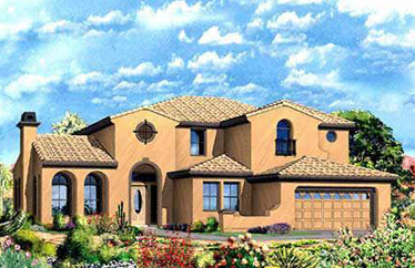 These are the Toll Brothers built homes in the Desert Willow collection at Aviano at Desert Ridge.