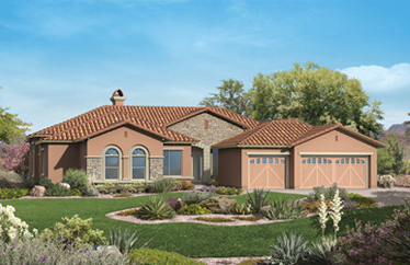 These are the Mesquite collection of homes built by Toll Brothers in Aviano at Desert Ridge.