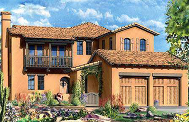 These are the Ocotillo collection of homes built by Toll Brothers Homes in Aviano at Desert Ridge.