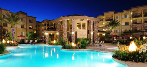 Toscana Desert Ridge condos offer home owners luxury condominium living in a 24 hour guard gated Desert Ridge condo community located in North Phoenix Arizona.