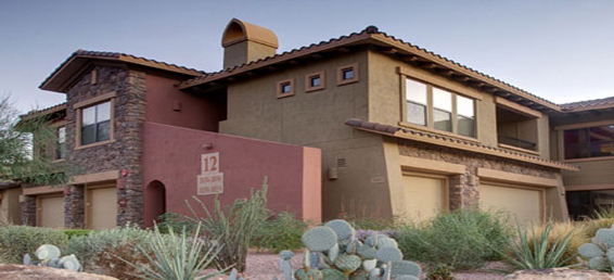 Bella Monte at Desert Ridge townhomes back to the Wildfire Golf Club and offer many home owners golf course views.