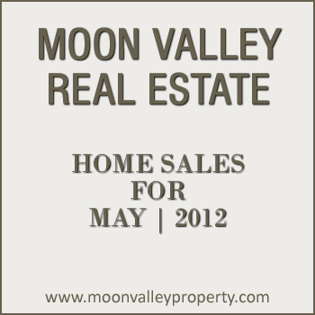 View home sales for the North Phoenix community of Moon Valley during the month of May 2012