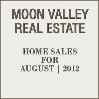View Moon Valley residential property sales for the month of August 2012.