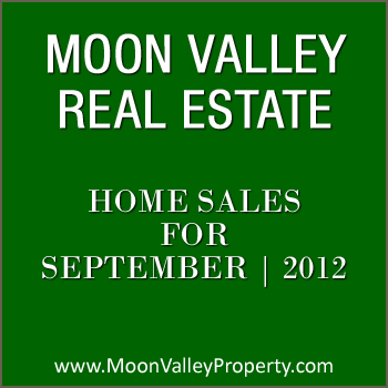 View Moon Valley residential property sales for the month of September 2012.