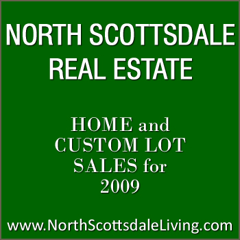 There was less North Scottsdale real estate for sale in 2009.