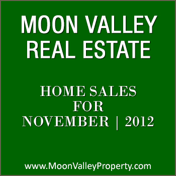 These are the Moon Valley home sales during the month of November 2012.