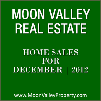 There were 30 Moon Valley home sales during the month of December 2012.