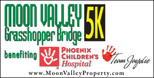 The 2013 Moon Valley Grasshopper Bridge 5K is to be held at the Moon Valley Park.