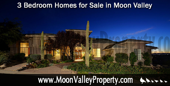 There are currently eighteen 3 bedroom Moon Valley homes for sale.