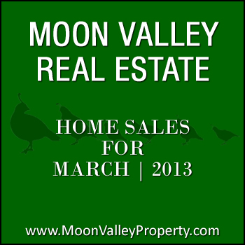 Moon Valley homes for sale that sold during the month of March 2013.