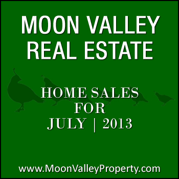Moon Valley home sales for the month of July 2013.