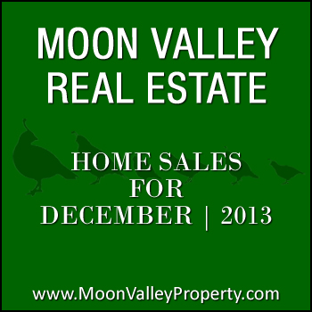 There were 3 Moon Valley townhomes and 17 Moon Valley detached homes that sold during the month of December 2013.