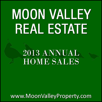 Moon Valley homes that sold during 2013 increased in average sales price.