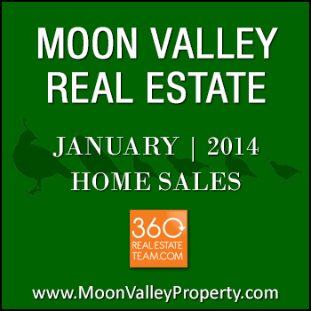 Sold Moon Valley real estate during the month of January 2014.