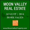 There were 39 homes in Moon Valley sold during the month of August 2014.