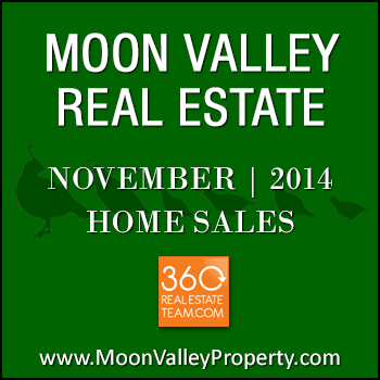 There were 28 Moon Valley home sales that closed during the month of November 2014.
