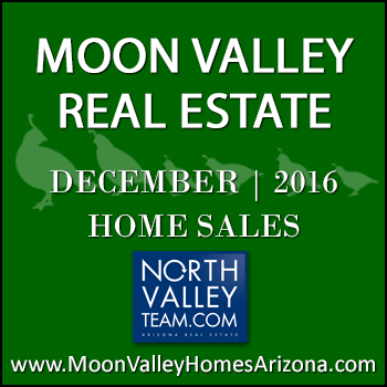 There were 41 December 2016 sold Moon Valley homes which included four Moon Valley condominiums and townhomes.