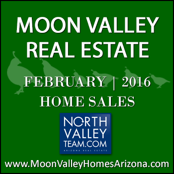 There were 33 February 2016 sold Moon Valley homes which included four Moon Valley condos and townhomes.