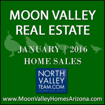 There were 26 January 2016 sold Moon Valley homes which included four Moon Valley condos and townhomes.