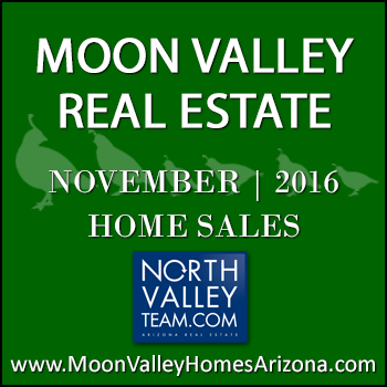 There were 42 November 2016 sold Moon Valley homes which included six Moon Valley condominiums and townhomes.