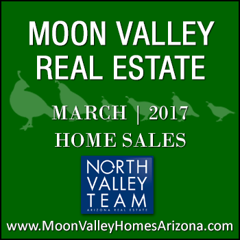 There were 50 March 2017 sold Moon Valley homes which included one Moon Valley patio home, seven Moon Valley condos and two Moon Valley townhomes.