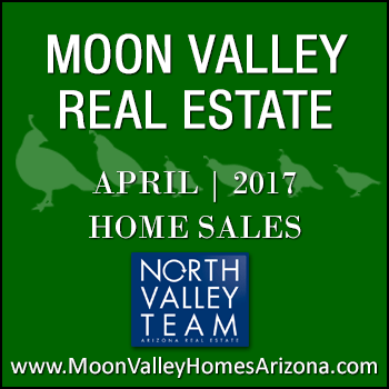 There were 50 April 2017 sold Moon Valley homes which included one Moon Valley condominium, one Moon Valley townhome and 48 single family detached Moon Valley homes.