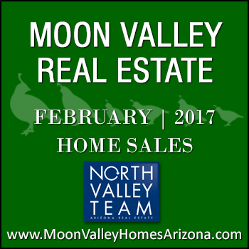 There were 46 February 2017 sold Moon Valley Homes which included Moon Valley condos and detached homes but no Moon Valley patio homes.