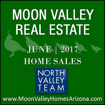 There were 45 June 2017 sold Moon Valley homes which included six Moon Valley condominiums, two Moon Valley townhomes and 37 single family detached Moon Valley homes.