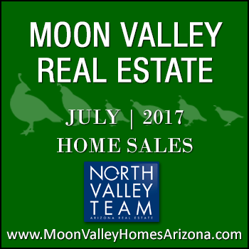 There were 37 July 2017 sold Moon Valley homes which included three Moon Valley condominiums and Moon Valley townhomes.