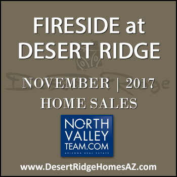 There were 7 November 2017 sold Fireside Desert Ridge homes and 5 of these were detached Fireside Desert Ridge homes and two were Fireside Triplex condos.