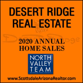 The number of 2020 sold Desert Ridge homes was 609 which was 121 more sold homes than total Desert Ridge home sales during 2019; average days on market for 2020 sold Desert Ridge properties dropped by 17 days.